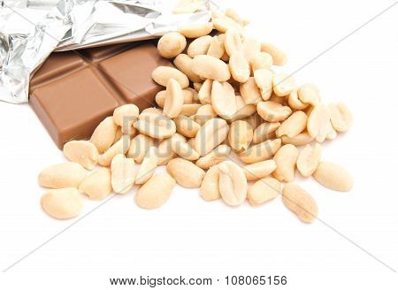 Chocolate Bar And Some Peanuts
