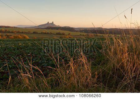 Morning Landscape And Trosky Castle, Czech Republic