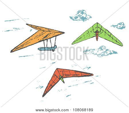 Hang gliders collection
