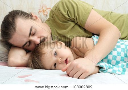 Baby ailing With Daddy