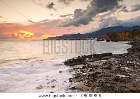 Coast of southern Crete.