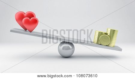 Scales With Hearts And Money