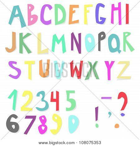 Doodle Colorful Alphabet