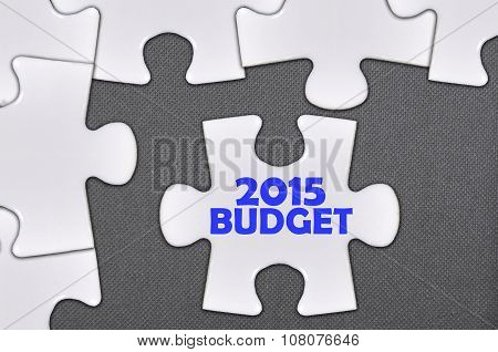The White Jigsaw Puzzle Written Word 2015 Budget