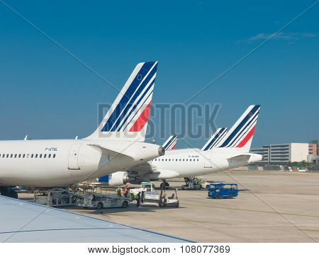 Airfrance Planes In Paris