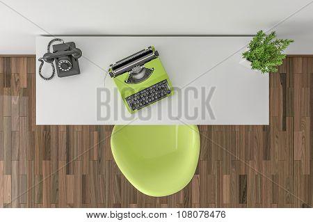 Desktop Top View - Mock Up