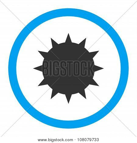 Bacterium Rounded Glyph Flat Icon