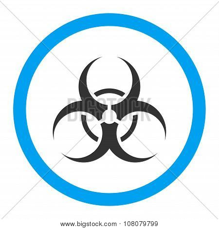 Biohazard Symbol Rounded Glyph Icon