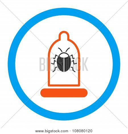 Bug Protection Rounded Glyph Icon