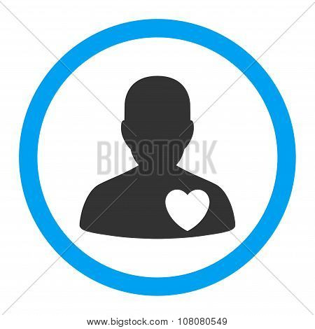 Cardiology Patient Rounded Glyph Icon
