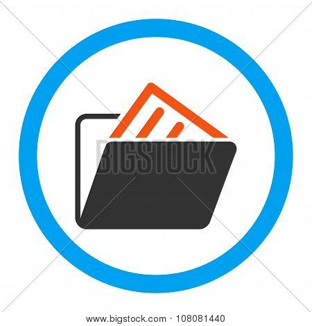 Document Folder Rounded Glyph Icon