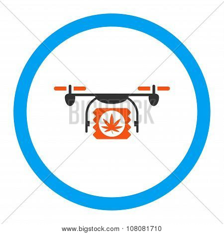 Drugs Drone Shipment Rounded Glyph Icon