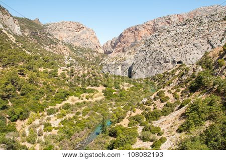 Valley In Caminito Del Rey
