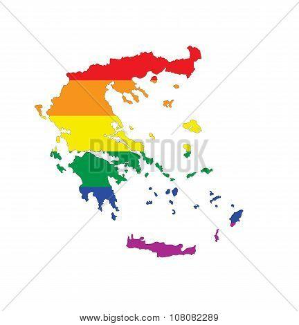 Greece Gay Map