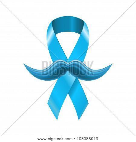 Novembro azul ribbon