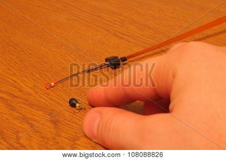 rod for winter fishing with mormyshkae