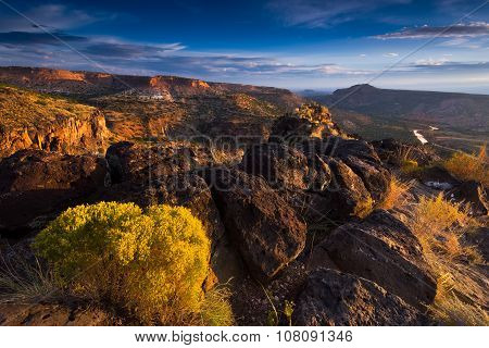 Sunrise Over White Rock Canyon And The Rio Grande River