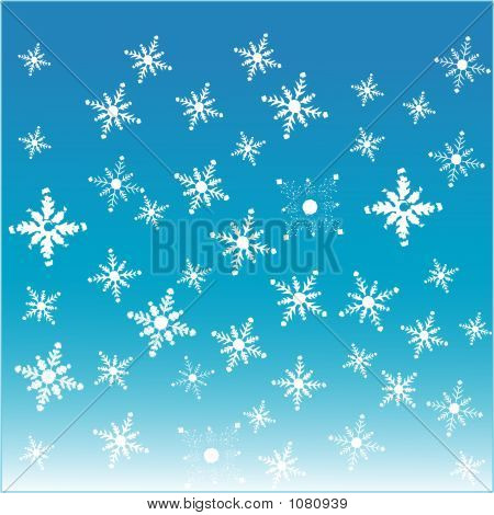 Snowflakes - Vector Illustration