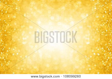 Abstract Gold Christmas Sparkle Background