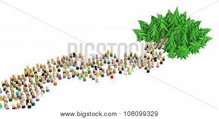 Cartoon Crowd, Forest Way
