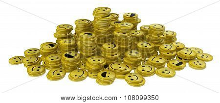 Happy Face Coin Stacks