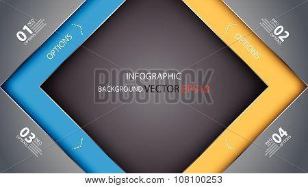 Vector Background Overlay Dimension Modern Line Bar Design For Text, Vector