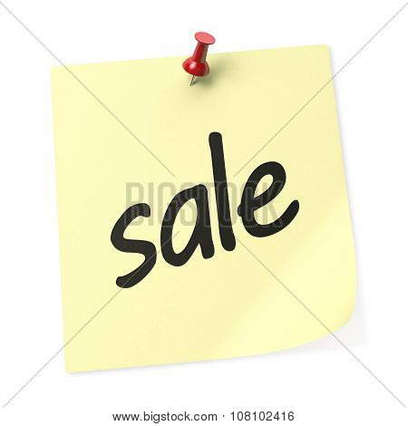 Sale Yellow Sticky Note