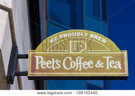 Peet's Coffee And Tea Exterior And Sign