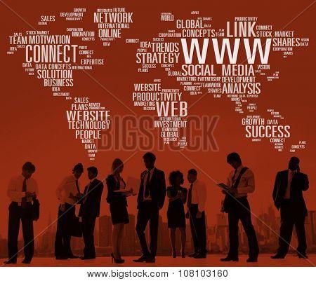 Www Social Media Internet Global Communications Concept