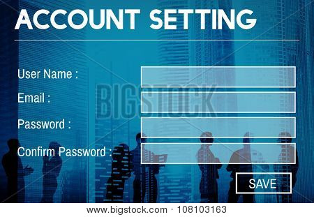 Account Setting Registration Password Log In Privacy Concept