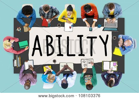 Ability Skill Performance Expertise Talent Concept