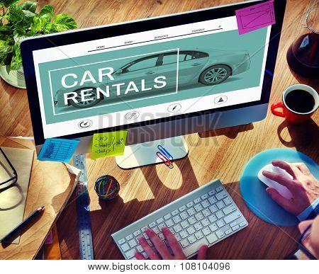 Car Rentals Rental Enterprise Road Trip Transportation Concept