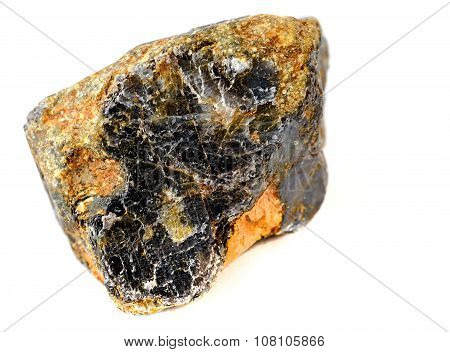 corundum rock isolated on white