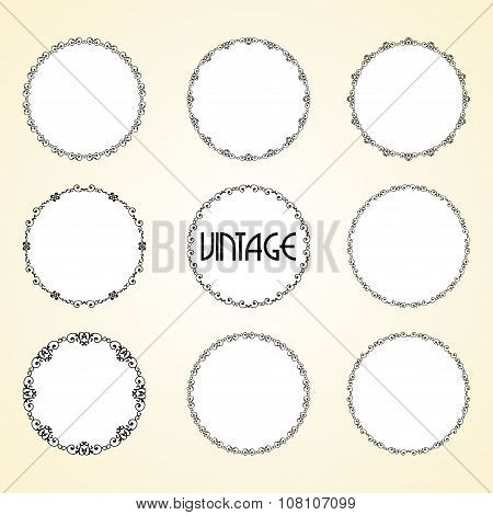 Vintage Calligraphy Decorative Frame Set