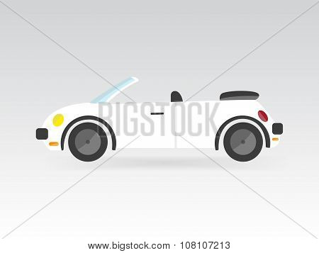 Flat Race Sport Car Transport Auto Icon