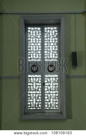 Window of Mersing Jamek Town Mosque