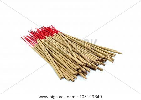 Incense Stick On White Background Isolated