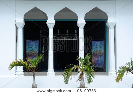 Architectural detail at Mersing Jamek Town Mosque
