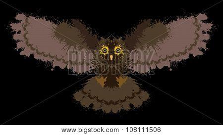 Owl painted blots.