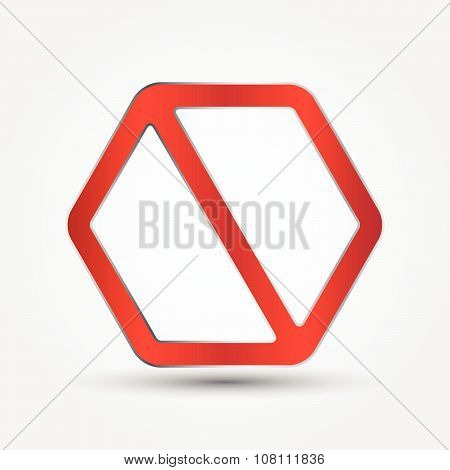 Prohibition Signs Polygon Style, Illustration Vector