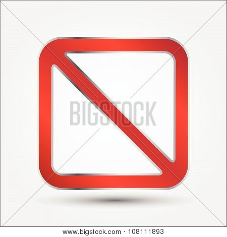 Prohibition Signs Rectangle Style, Illustration Vector