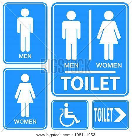 Toilet Sign, Illustration Vector