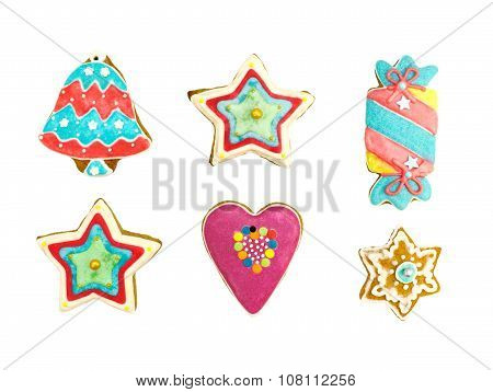 Gingerbread Cookies In Various Shape