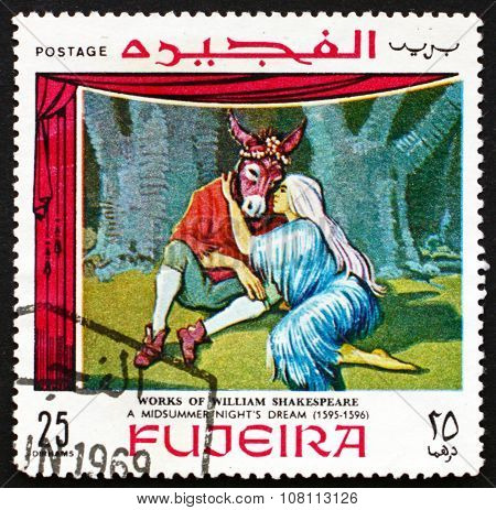 Postage Stamp Fujeira 1969 Scene From Midsummer Night's Dream