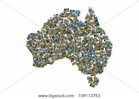 Australia pictures map collage