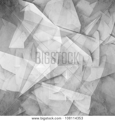 Abstract Digital 3D Chaotic Polygonal Surface