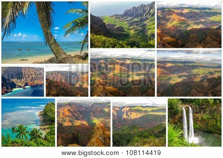 Kauai pictures collage
