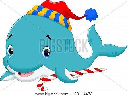 Vector illustration of christmas fish