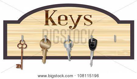 Wood Key Board