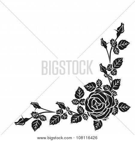 border of floral pattern